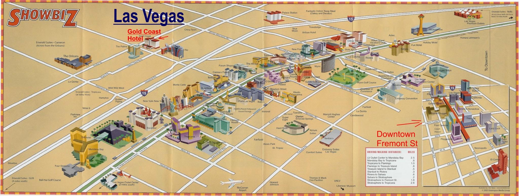 Las Vegas Strip Karte Goudenelftal